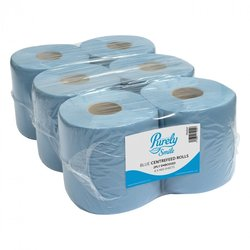Supporting image for Purely Smile 2 Ply Centrefeed Roll Blue