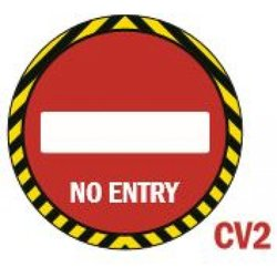 Supporting image for 'No Entry' Round Vinyl Laminated Floor Sticker