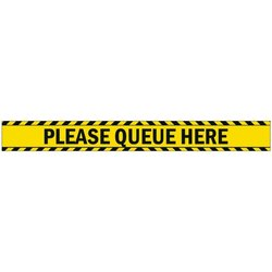 Supporting image for 'Please Queue Here' Self Adhesive Vinyl Laminated Floor Sticker Sign