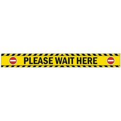 Supporting image for 'Please Wait Here' Vinyl Laminated Floor Sticker Sign