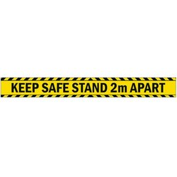 Supporting image for 'Stand 2m Apart' Vinyl Laminated Floor Sticker Sign