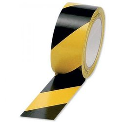 Supporting image for TOP SELLER - Springfield Yellow and Black Safety Hazard Floor Tape - 6 Roll Pack