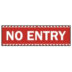 Supporting image for 'No Entry' Vinyl Laminated Floor Sticker