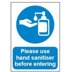 Supporting image for Correx Health & Safety Sign - Sanitise