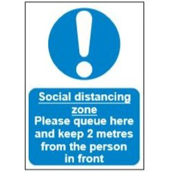 Supporting image for Correx Health & Safety Sign - Social Distancing