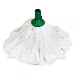 Supporting image for EXEL BIG WHITE SOCKET MOP - HEAD GREEN