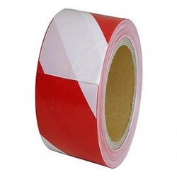 Supporting image for Springfield Red/White Barrier Non Adhesive Tape - 6 Roll Pack