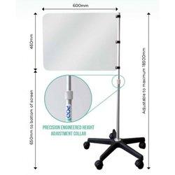 Supporting image for Telescopic Floor Standing Protection - Sneeze Screen - Junior