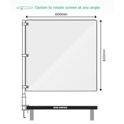 Supporting image for Desk Mounted Protection - Sneeze Screen - Single Post