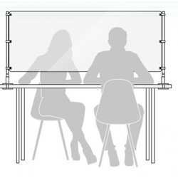 Supporting image for Desk Mounted Protection - Sneeze Screen - Double Post