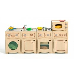 Supporting image for Creative! Role Play Complete Kitchen Set - Maple