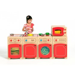 Supporting image for Creative! Role Play Complete Kitchen Set - Red