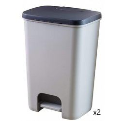 Supporting image for Springfield Pedal Bin - Silver/Grey - 2 Pack