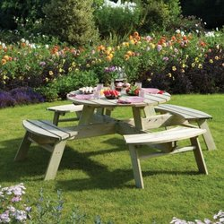 Supporting image for Oxford Round Picnic Table