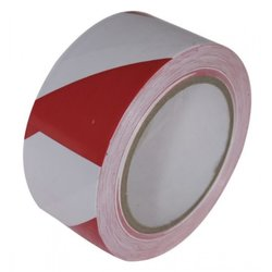 Supporting image for Springfield Red and White Safety Hazard Floor Tape - 6 Roll Pack