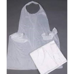 Supporting image for White Aprons on a Roll -  Bulk 1000 Pack - 5 rolls of 200