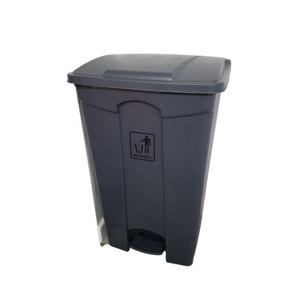 Supporting image for Heavy Duty Pedal Operated Black Bin - 90 Litre