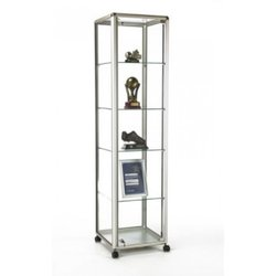 Supporting image for Illuminated Tower unit with hinged door: Satin Silver