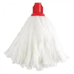 Supporting image for Covid testing area disposable White Socket Mop Head Red