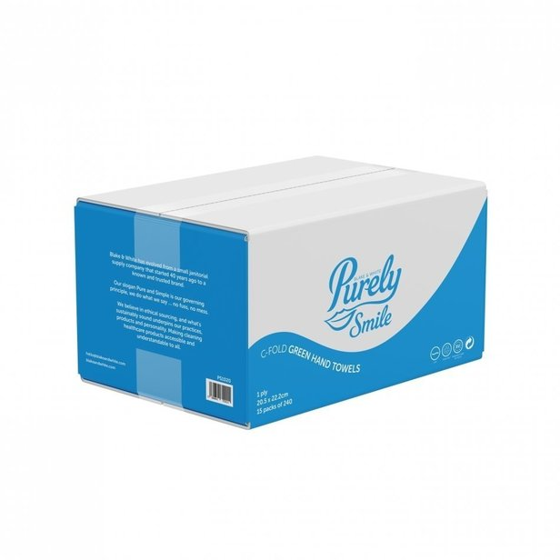 Supporting image for Hand Towels C Fold 1ply Green x 2400