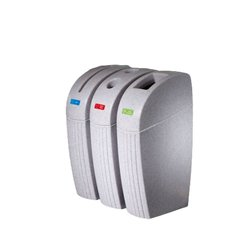 Supporting image for Marble White Recycling Bins - 55L