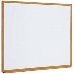 Supporting image for Light oak effect premium aluminium frame whiteboard