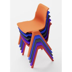 Supporting image for Mila Stacking Chair - H430mm