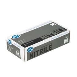 Supporting image for Premium Black Nitrile Gloves P/F x 100 Medium