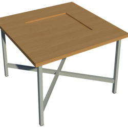 Supporting image for School Work Bench - Tool Well - No Cupboard