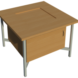 Supporting image for School Work Bench - Tool Well - With Cupboard