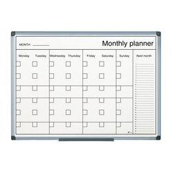 Supporting image for Monthly Planner Black & White Print 900 X 600 Aluminium