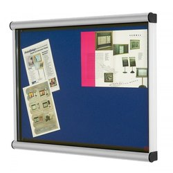 Supporting image for Wall Mounted Scroll Exterior Notice Board 1500 X 1200mm Red