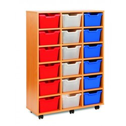Supporting image for Cubby Range - 18 Tray Storage Unit