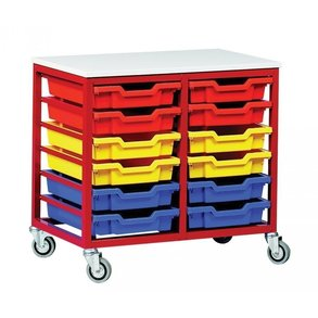 Supporting image for Mobile Metal Storage - 12 Tray Unit