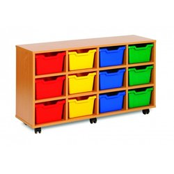 Supporting image for Cubby Range - 12 Tray Storage Unit