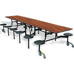 Supporting image for Rectangular Folding Table with 16 Stools