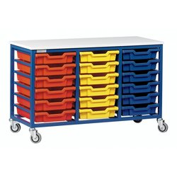 Supporting image for Mobile Metal Storage - 18 Tray Unit