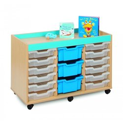 Supporting image for Candy Colours - 18 Shallow Tray Storage Unit
