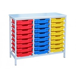 Supporting image for Static Metal Storage - 24 Tray Unit