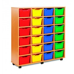 Supporting image for Cubby Range - 24 Tray Storage Unit