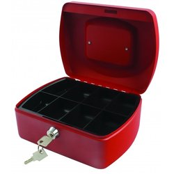 Supporting image for SPRINGFIELD CASH BOX 8 INCH RED
