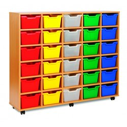 Supporting image for Cubby Range - 30 Tray Storage Unit