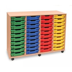 Supporting image for 40 Shallow Tray Storage Unit - Mobile