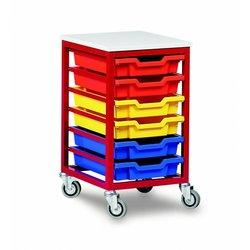 Supporting image for Mobile Metal Storage - 6 Tray Unit