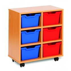 Supporting image for Cubby Range - 6 Tray Storage Unit