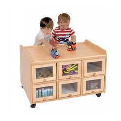 Supporting image for Creative! Double Sided Resoure Unit with Doors on one side