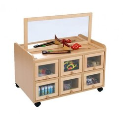 Supporting image for Creative! Double Sided Resource Unit with Doors and Mirror Panel