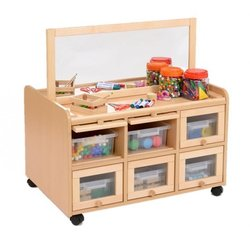 Supporting image for Creative! Double Sided Resource Unit with Doors/Trays and Mirror Panel